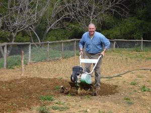 Preparing for potato planting (photo by Ann Larson)