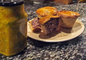 Our piccalilli and pork pies !