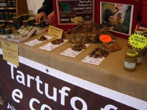 Truffles at the farmer's market in Florence