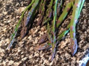 Asparagus fresh from the garden